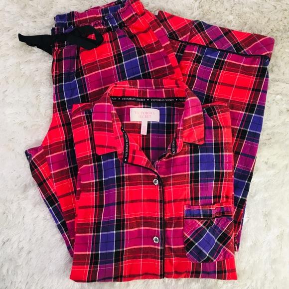 Victoria s Secret Red Plaid Flannel Pajama Set M. M 5c369024d6dc52130d00fb53 c0d5fdf30
